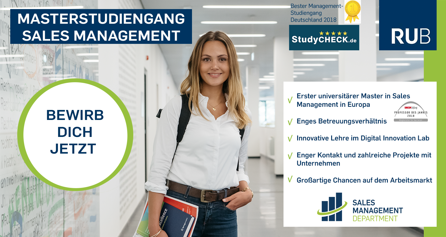 Masterstudiengang Sales Management